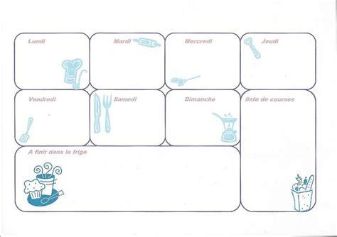 Model de planning de travail excel →. » Planning repas de la semaine vierge à imprimer sous ...