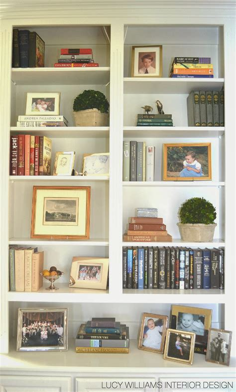 Decorating Bookshelves In Family Room by Williams Interior Design Before And After