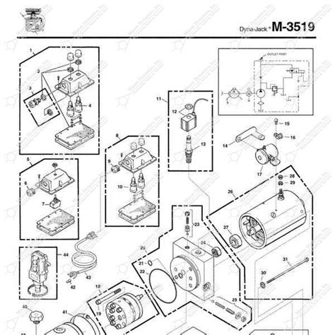 Monarch Wiring Diagram by Monarch Hydraulics M 3519 Parts Diagram From Dynamics