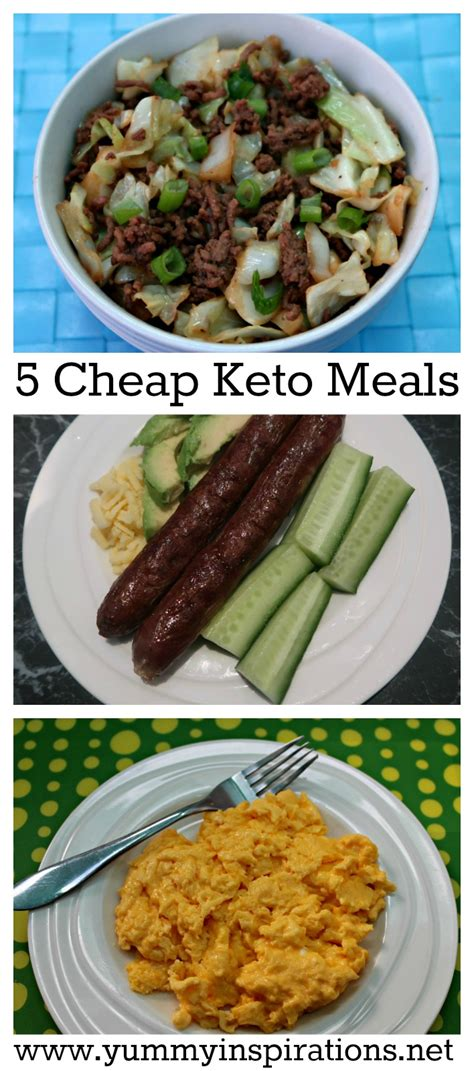 inexpensive meals 5 cheap keto meals low carb keto diet foods on a budget