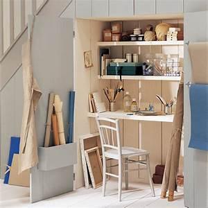 Bureau Sous Escalier : un bureau sous l escalier marie claire ~ Farleysfitness.com Idées de Décoration