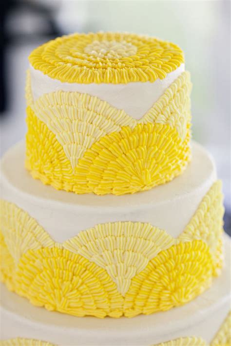 yellow cake lemon charcoal navy rustic real wedding onewed