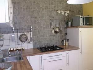Papier Peint Cuisine Moderne : papiers peints cuisine lessivable 4 murs cuisine id es ~ Dailycaller-alerts.com Idées de Décoration