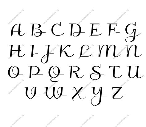 lettering template wedding calligraphy uppercase lowercase letter stencils a z 1 4 to 12 inch sizes stencil