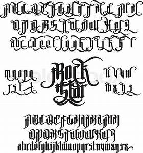rock star modern gothic style font gothic letters with With template gothic font free