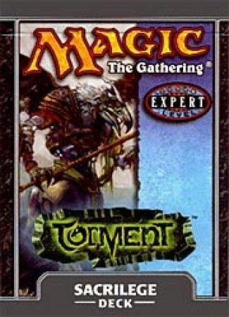 Magic The Gathering Preconstructed Decks 2014 by Torment Sacrilege Preconstructed Theme Deck Mtg Magic