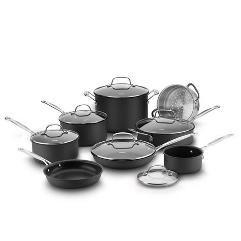 cuisinart cookware non stick hard anodized chef classic piece 14n sets 1000