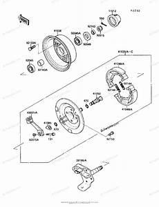 Kawasaki Atv 1990 Oem Parts Diagram For Front Hub