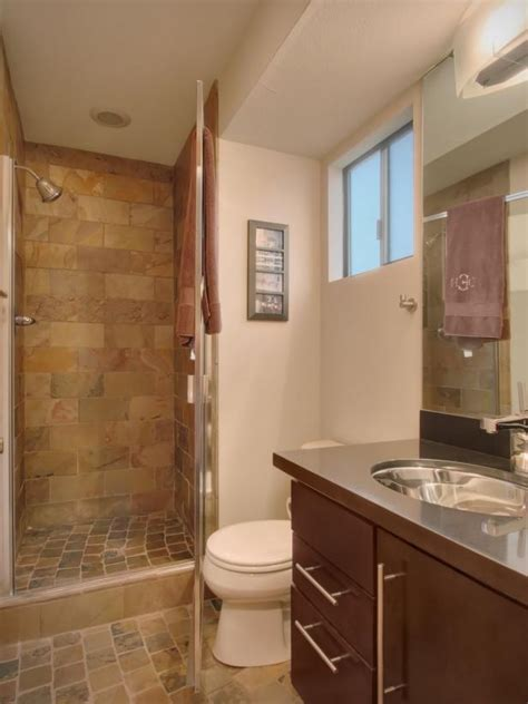 Earth Tone Bathroom Tile Ideas, Neutral Single Vanity