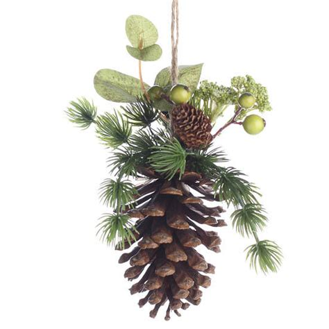 woodland decorated pinecone ornament christmas and winter sale sales