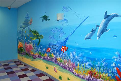 Under The Sea   View From Inside The Room Painting by Olga Pimenova