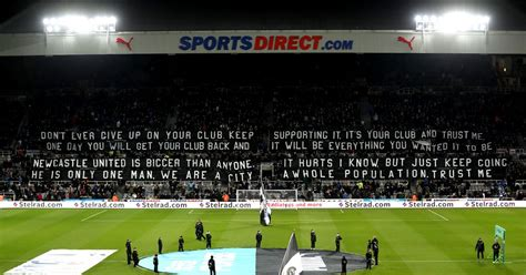 Newcastle United fans' 62-word banner borrows from Kevin ...