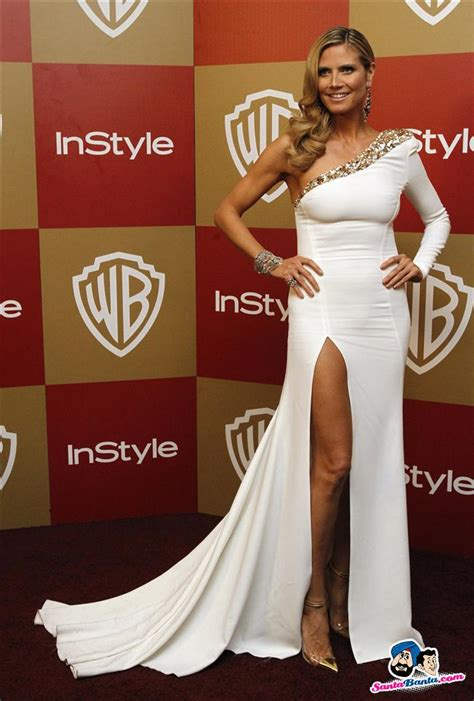 Heidi Klum Poses The Instyle Warner Bros After Party