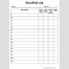 Take Home Reading Log Freebie  Teach Junkie
