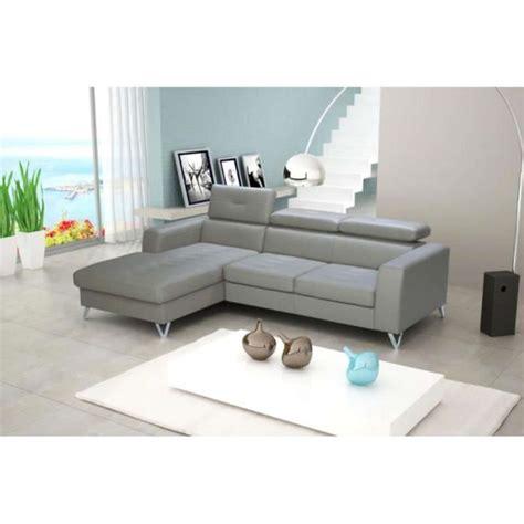 canape angle 250 cm justhome canapé d 39 angle 179x250 cm en cuir gris