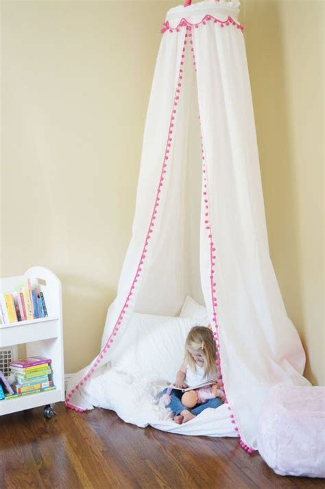 pom pom trim play tent canopy    gray