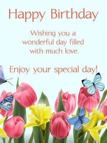 happy birthday stickers shape tulip happy birthday card birthday greeting cards by davia