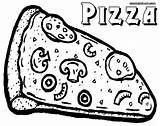 Pizza Coloring Pages Slice sketch template