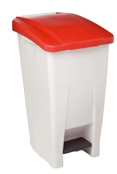 poubelle de cuisine rossignol  litres haccp couvercle rouge
