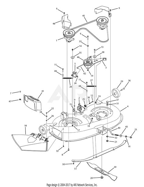 Deck Part Diagram by Mtd 13av761f597 2008 Parts Diagram For Deck Assembly