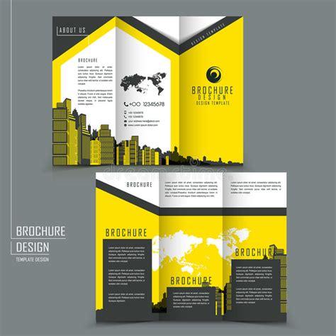 Simplicity Tri Fold Brochure Template Design Stock Vector Tri Fold Template Brochure For Business Advertising Stock
