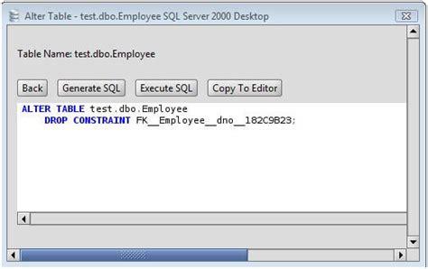 ms sql server drop foreign key   ms sql server