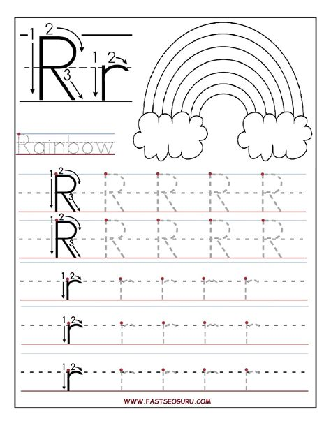printable letter r tracing worksheets for preschool summer school 2015 preschool worksheets