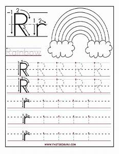 printable letter r tracing worksheets for preschool With traceable letters for crafts