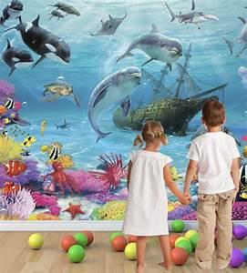 Wandtattoo Unterwasserwelt Kinderzimmer : unterwasserwelt fototapete verwandel das kinderzimmer in eine meereswelt ~ Sanjose-hotels-ca.com Haus und Dekorationen