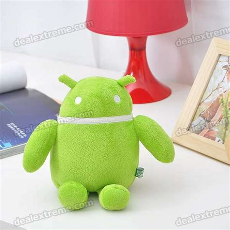 Cute Android Robot Soft Plush Doll Green Free Shipping