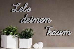 Deko Schriftzug Holz : 3tlg set schriftzug lebe deinen traum silber holz deko ebay ~ Eleganceandgraceweddings.com Haus und Dekorationen