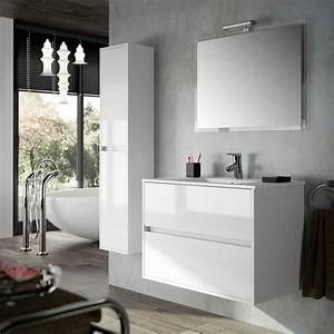 Meuble de salle de bain salgar serie noja 90 cm for Meuble bas salle de bain largeur 90 cm