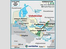 Uzbekistan Map Geography of Uzbekistan Map of