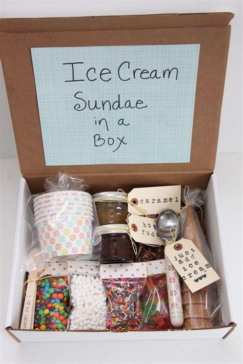present ideas ice cream sundae in a box gift idea smashed peas carrots