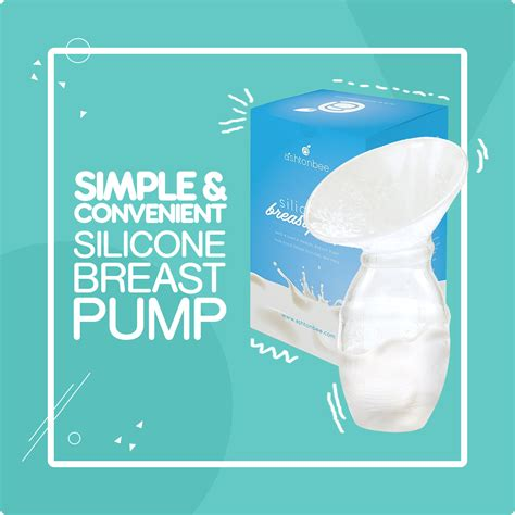 Ashtonbee Silicone Breast Pump For Breastfeeding With Lid