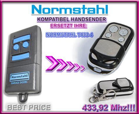 handsender 433 92 mhz normstahl t433 4 kompatibel handsender 433 92mhz ersatz fernbedienung ebay