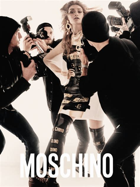 moschino spring  ad campaign les facons