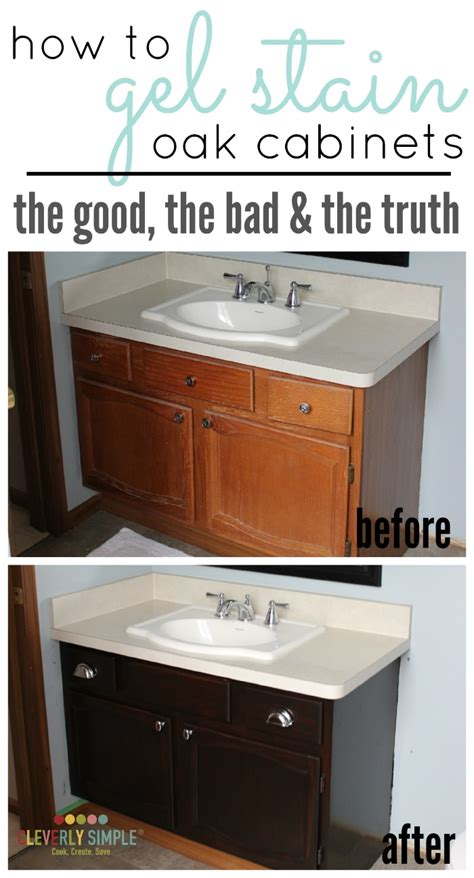 gel stain  cabinets  good  bad