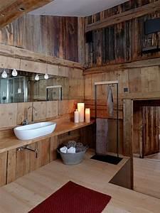 Holz Im Badezimmer : rustikale badezimmer holz waschbecken kerzen salle ~ Lizthompson.info Haus und Dekorationen