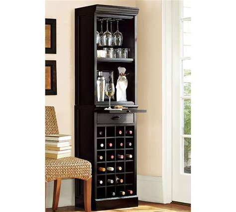 Modular Bar With Cabinet Tower by Modular Bar With Wine Grid Tower Pottery Barn Bars For