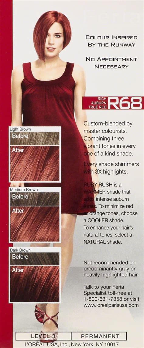 loreal feria power reds  ruby rush true red