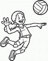 Coloring Sports Playing Volleyball Pages Player Clipart Clip Printable Drawing Sport Rugby Aang Cliparts Library Categories Getdrawings Wecoloringpage 2229 Coloringonly sketch template