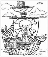 Coloring Pirate Pages Drawing sketch template