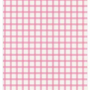 National Geographic Pink Plaid Wallpaper Sample-NG63844SAM ...