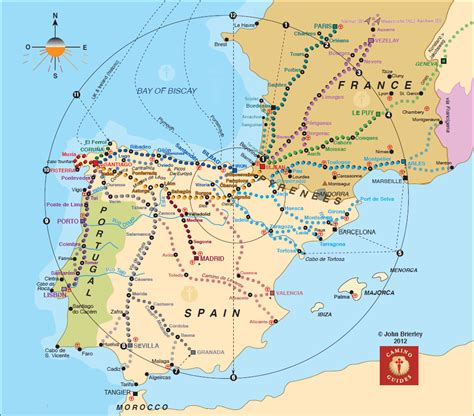 camino maps map of trail to camino el camino de santiago map worth