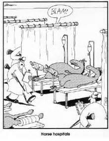 Far Side Horse Hospital Cartoon