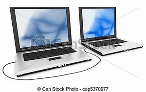 Stock Illustrations of Computer/Connect - Two computers ...