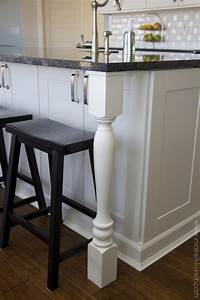 home improvement adding column supports to counter With best brand of paint for kitchen cabinets with turn your instagram photos into wall art