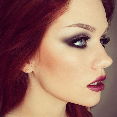 winter    ideas  brown eyes dark lips  modern fashion blog