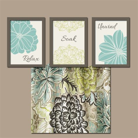 Floral Bathroom Wall Decor Seafoam Bathroom Wall Canvas Or Prints Bathroom By